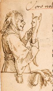 Hans Holbein d. J.; Ein Narr betrachtet seine Marotte; 1515